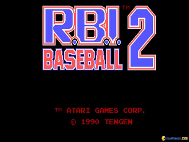 RBI Baseball 2 - title cover
