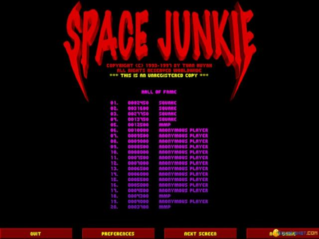 Space Junkie - game cover