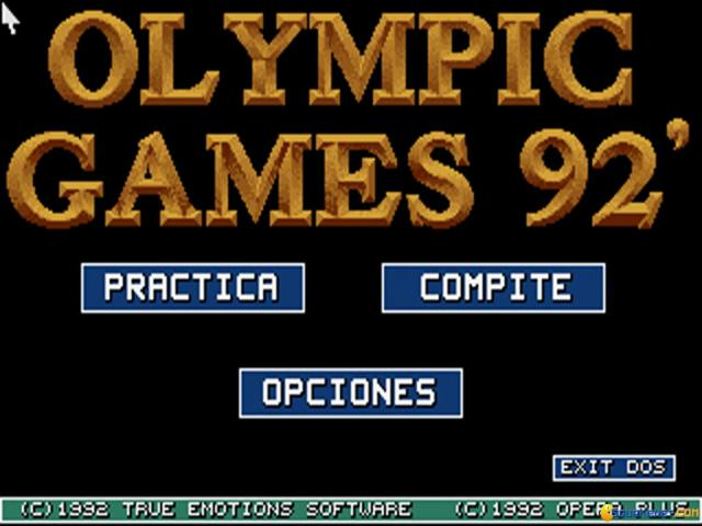 Olympic Games 92 TM - game cover