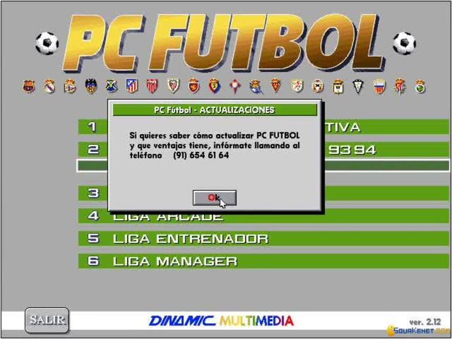 Pc Futbol 2 - title cover