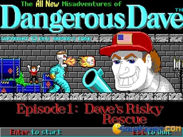 Dangerous Dave 3 - Dave's Risky Rescue - game cover