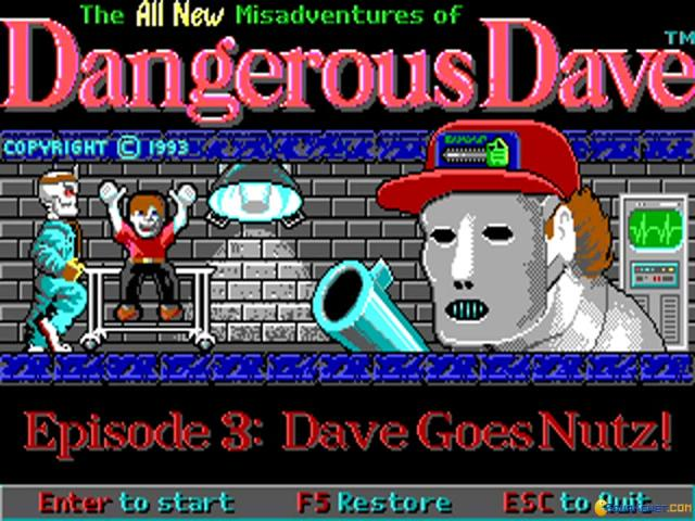 Dangerous Dave 4 - Dave Goes Nutz - title cover