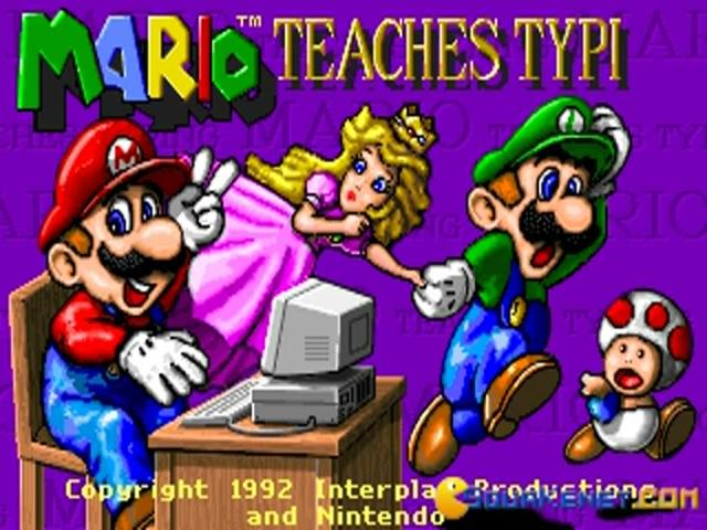 Mario Teaches Typing - game cover