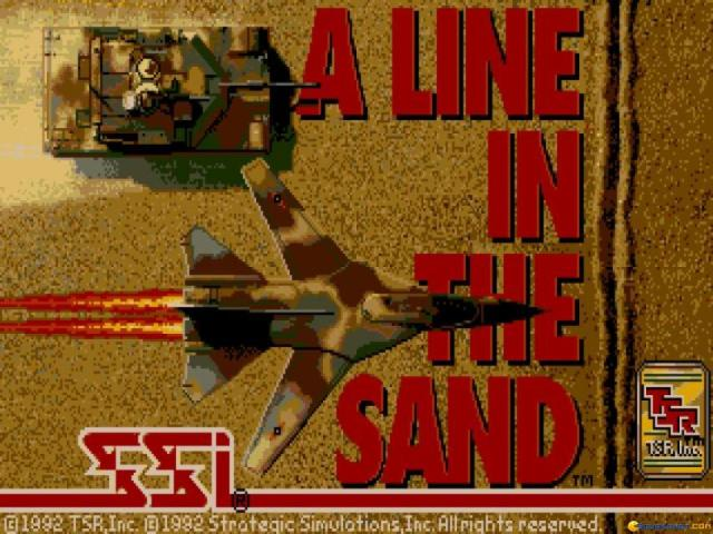 A Line in The Sand - title cover