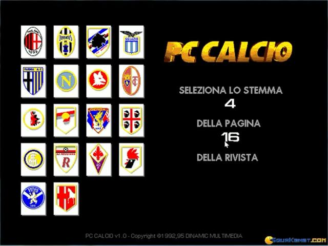PC Calcio 3 - title cover