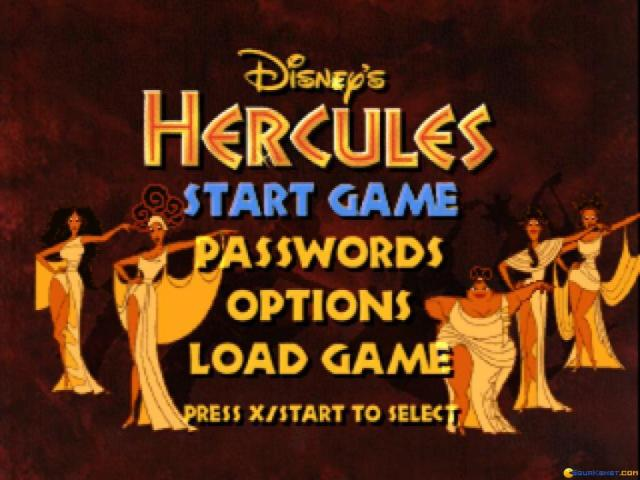 Disney's Hercules - title cover