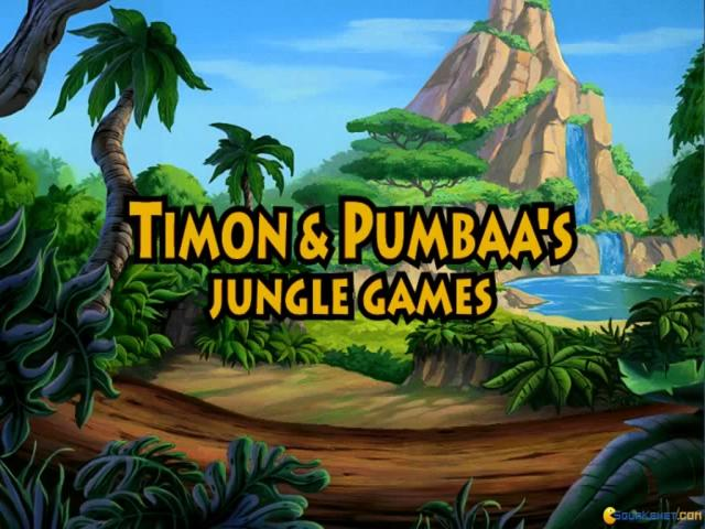 Timon & Pumbaa's Jungle Games - title cover