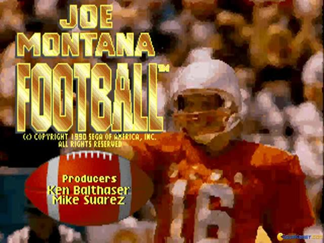 Joe Montana - game cover