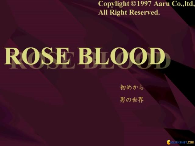 Roseblood - title cover