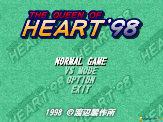 The Queen of Heart'98 - title cover
