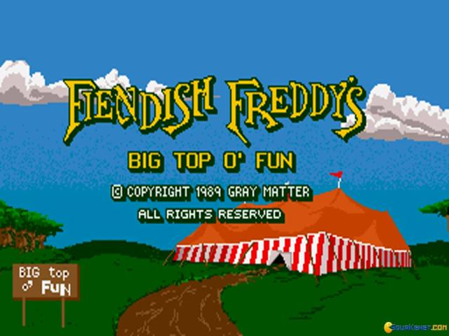 Fiendish Freddy's Big Top o' Fun - title cover