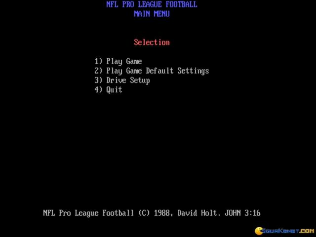 NFL Pro League Football - title cover