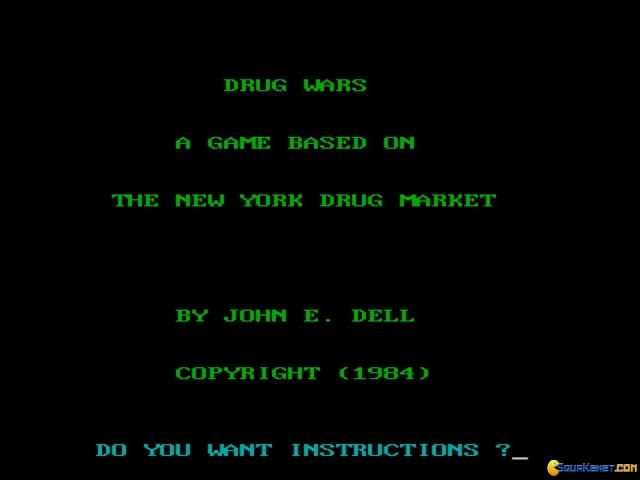 Drug Wars: A Game Based on the New York Drug Market - game cover
