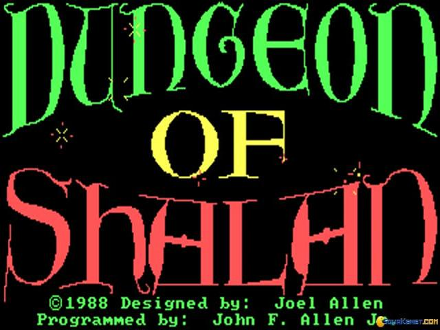 Dungeon of Shalan - title cover