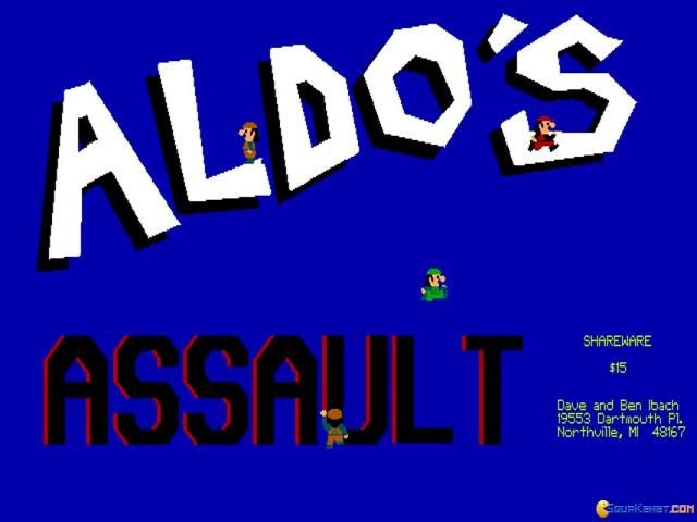 Aldo's Assault - title cover