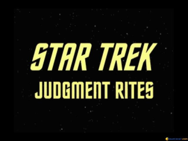Star Trek - Judgment Rites - game cover
