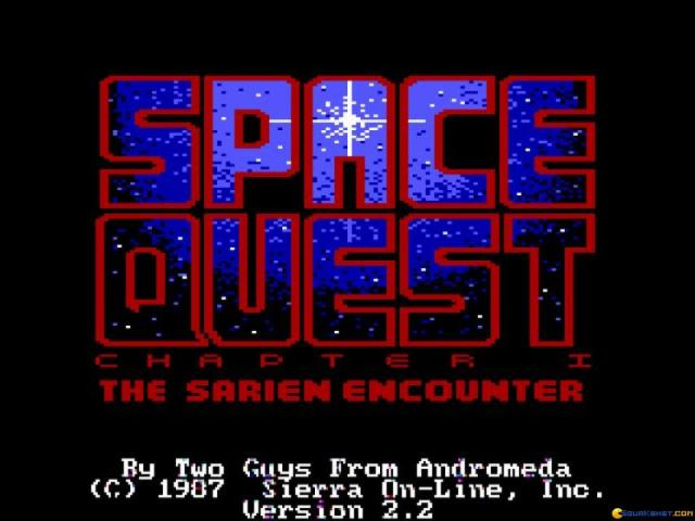 Space Quest - The Sarien Encounter - title cover
