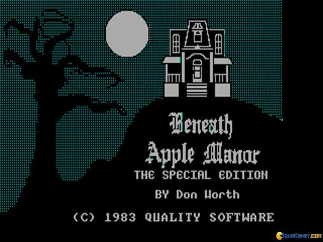 Beneath Apple Manor - title cover