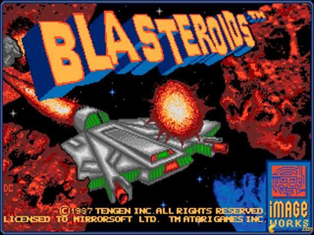 Blasteroids - title cover
