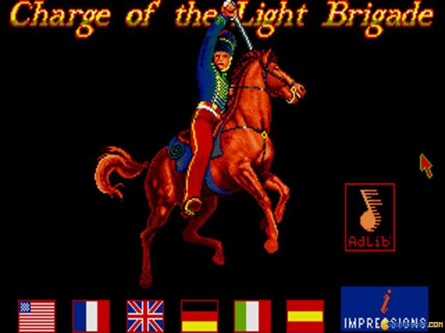 Charge of The Light Brigade - title cover