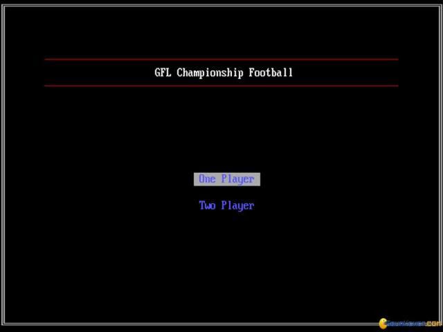 GFL Championship Football - game cover