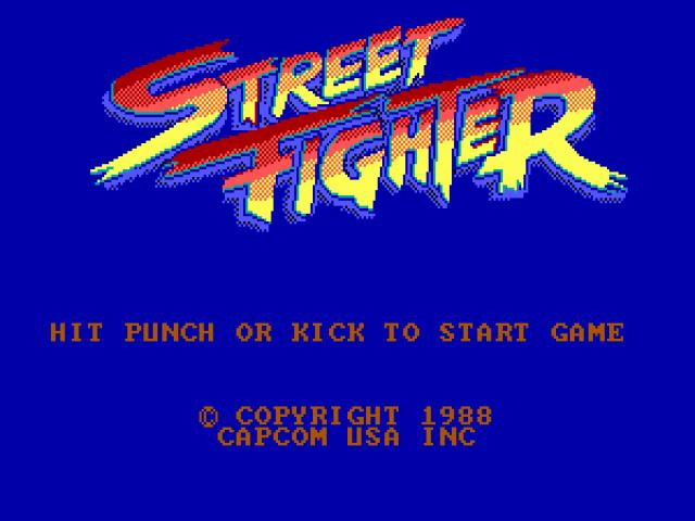 Street Fighter - title cover