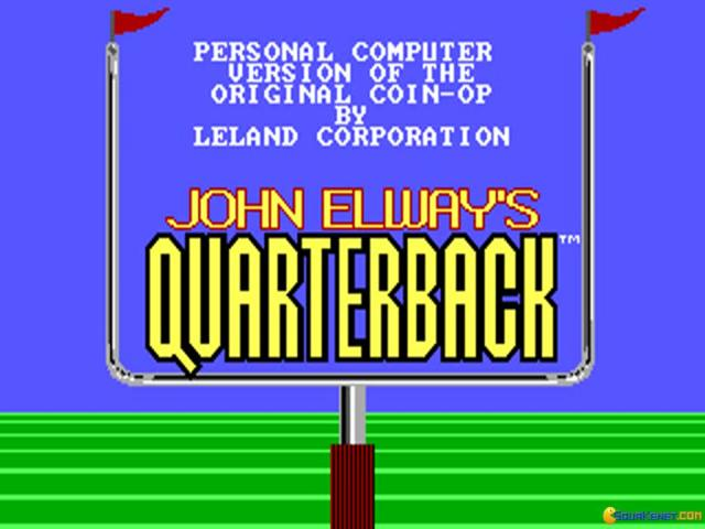John Elway's Quarterback - title cover
