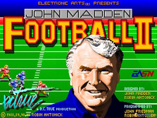John Madden Football II - title cover