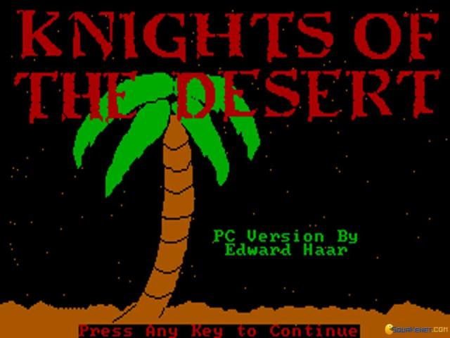 Knights of The Desert - title cover