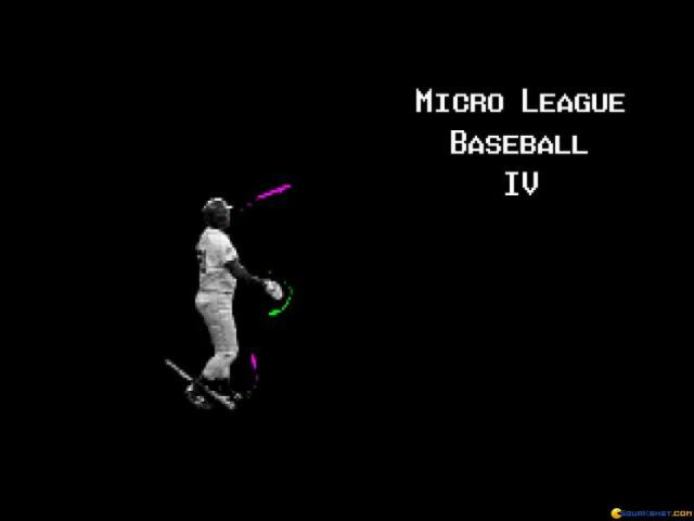 Micro League Baseball 4 - title cover