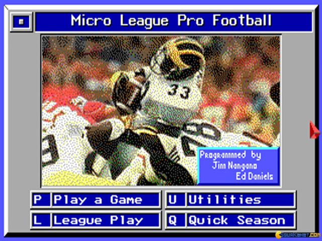 Micro League Football 1 - title cover