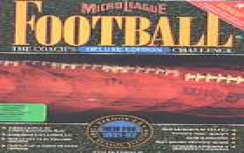 Micro League Football Deluxe Edition - game cover