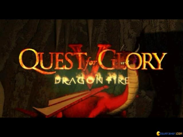 Quest For Glory 5: Dragon Fire - title cover