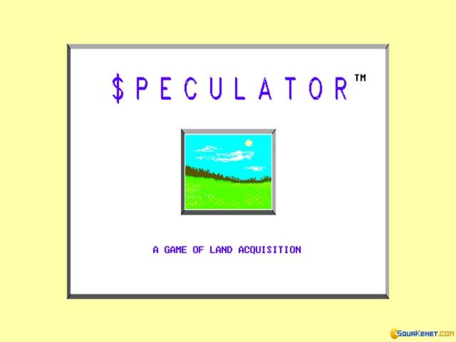Speculator - title cover