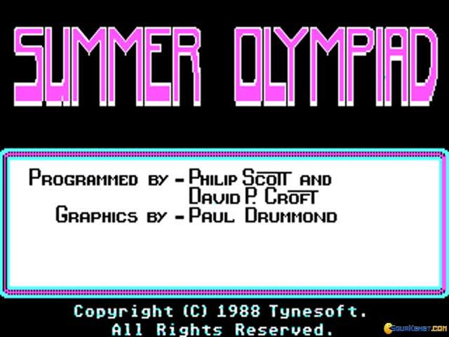Summer Olympiad - title cover