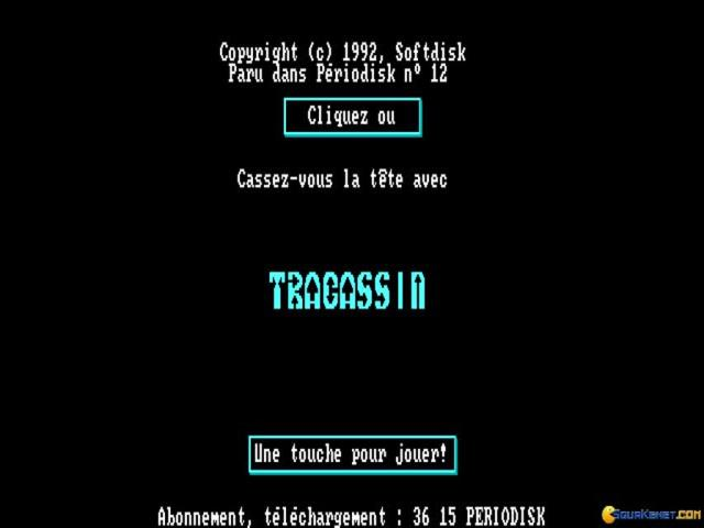 Tracassin - game cover