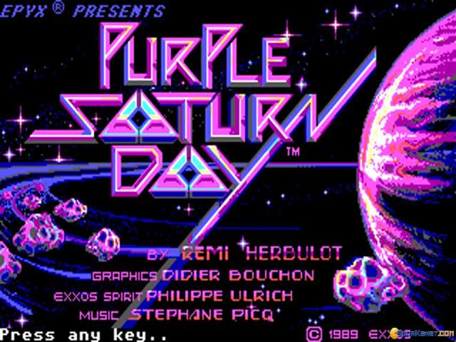 Purple Saturn Day - title cover