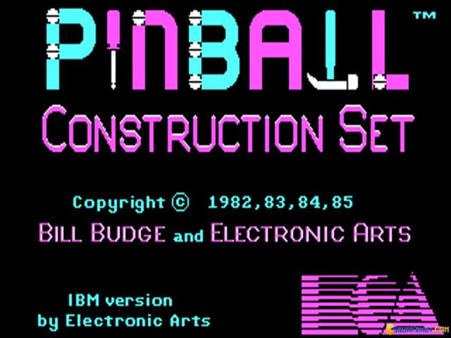 Pinball Construction Set - title cover