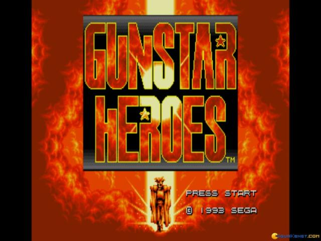 Gunstar Heroes - title cover