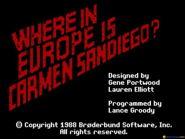 Where in Europe is Carmen Sandiego? - title cover