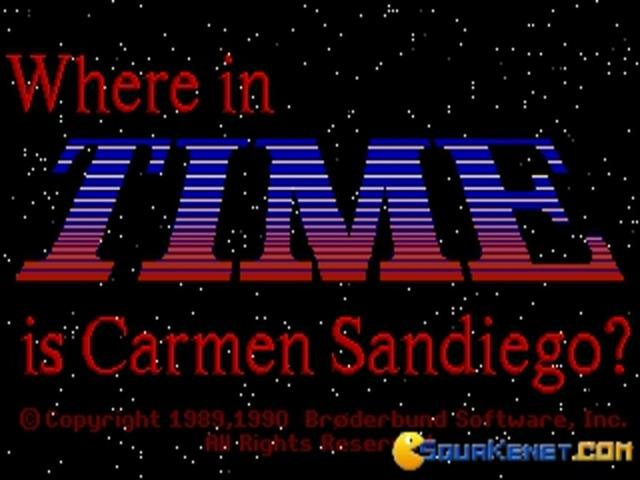 Where in Time is Carmen Sandiego? - title cover