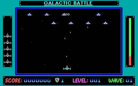 Galactic battle - title cover