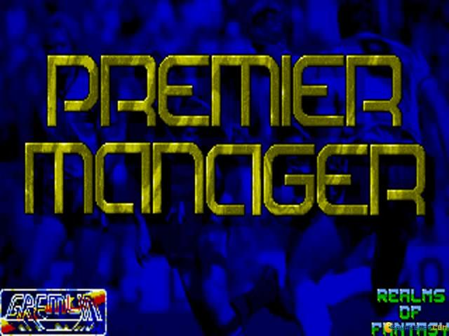 Premier Manager - game cover