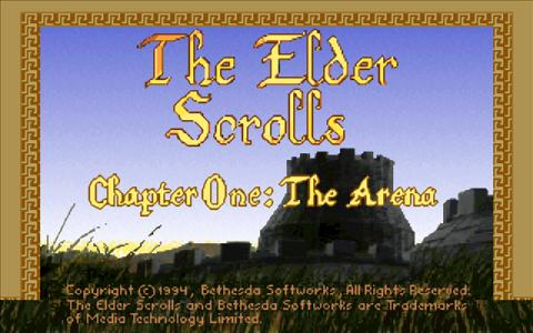 The Elder Scrolls: Arena - title cover