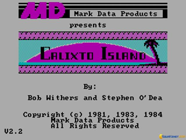 Calixto Island - title cover