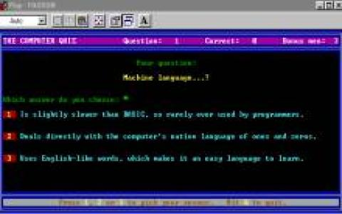 The Computer Quiz - title cover