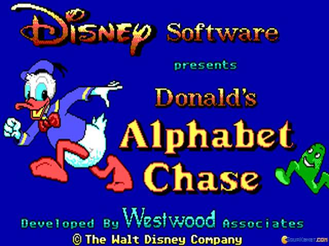 Donald's Alphabet Chase - title cover