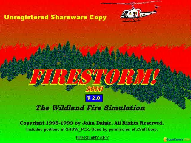 Firestorm: The Forest Fire Simulation Program - title cover