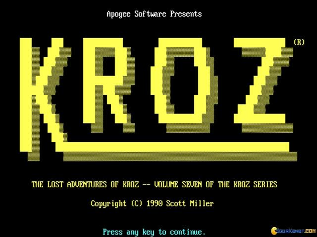 Lost Adventures of Kroz - title cover