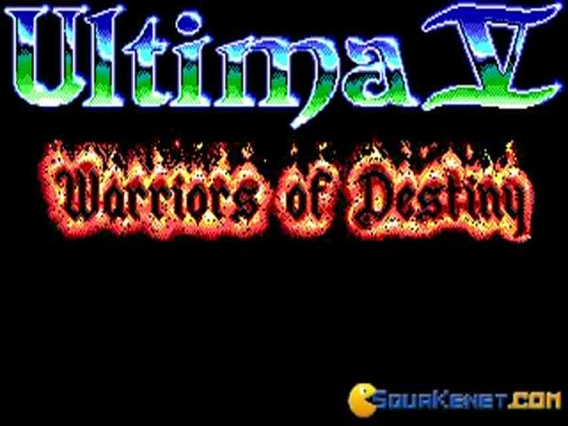 Ultima 5 - title cover